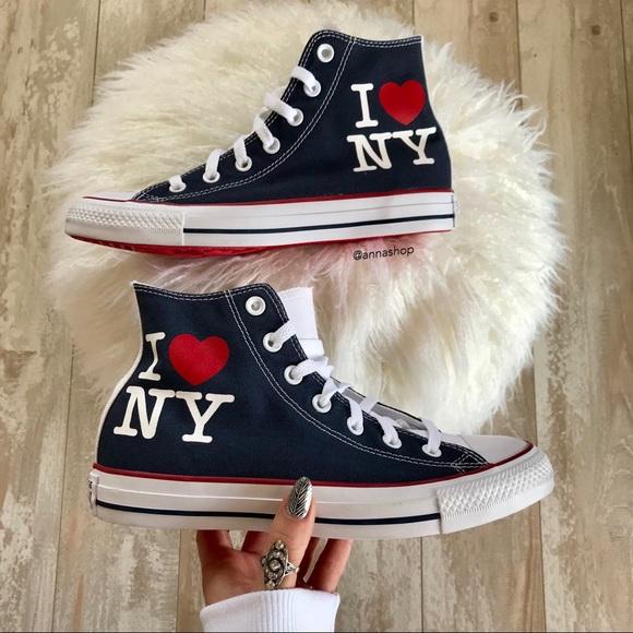 tani Wielka wyprzedaż buty na codzień NWT❤️Converse ID I love NY Custom NWT